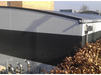 Curved roof data centre